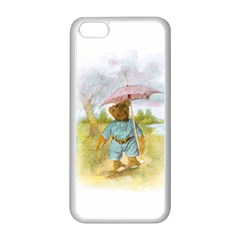 Vintage Drawing: Teddy Bear In The Rain Apple Iphone 5c Seamless Case (white) by MotherGoose