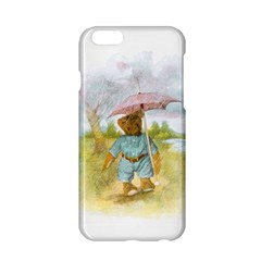 Vintage Drawing: Teddy Bear In The Rain Apple Iphone 6 Hardshell Case by MotherGoose
