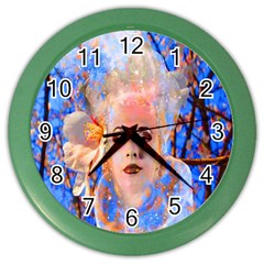 Magic Flower Wall Clock (Color) by icarusismartdesigns