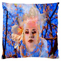 Magic Flower Large Cushion Case (two Sided)  by icarusismartdesigns