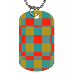 Squares In Retro Colors Dog Tag (two Sides) by LalyLauraFLM