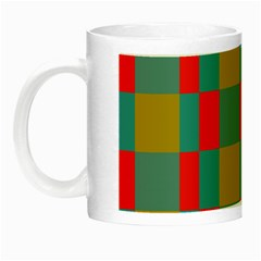 Squares In Retro Colors Night Luminous Mug by LalyLauraFLM