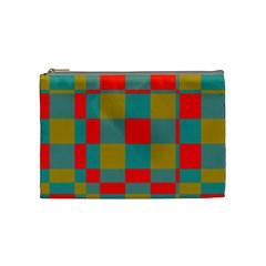 Squares In Retro Colors Cosmetic Bag (medium) by LalyLauraFLM