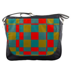 Squares In Retro Colors Messenger Bag by LalyLauraFLM
