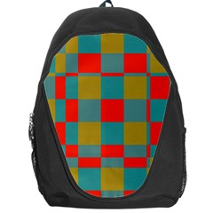 Squares In Retro Colors Backpack Bag by LalyLauraFLM