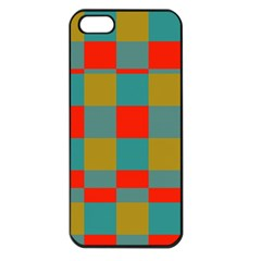 Squares In Retro Colors Apple Iphone 5 Seamless Case (black) by LalyLauraFLM