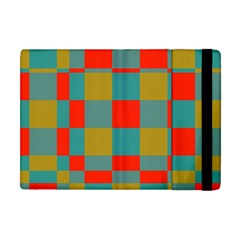 Squares In Retro Colors Apple Ipad Mini Flip Case by LalyLauraFLM