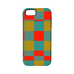 Squares In Retro Colors Apple Iphone 5 Classic Hardshell Case (pc+silicone) by LalyLauraFLM