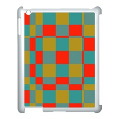 Squares In Retro Colors Apple Ipad 3/4 Case (white) by LalyLauraFLM