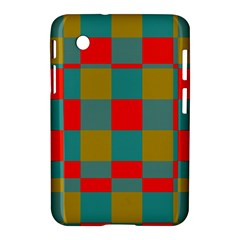 Squares In Retro Colors Samsung Galaxy Tab 2 (7 ) P3100 Hardshell Case  by LalyLauraFLM