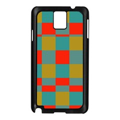 Squares In Retro Colors Samsung Galaxy Note 3 N9005 Case (black) by LalyLauraFLM