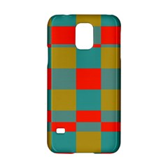Squares In Retro Colors Samsung Galaxy S5 Hardshell Case  by LalyLauraFLM