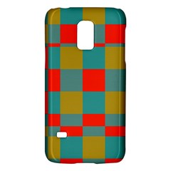 Squares In Retro Colors Samsung Galaxy S5 Mini Hardshell Case  by LalyLauraFLM