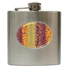 Scattered Pieces Hip Flask (6 Oz) by LalyLauraFLM