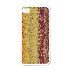 Scattered Pieces Apple Iphone 4 Case (white) by LalyLauraFLM