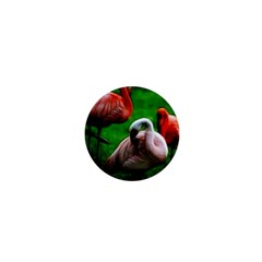 3pinkflamingos 1  Mini Button by bloomingvinedesign