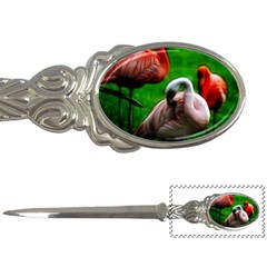 3pinkflamingos Letter Opener by bloomingvinedesign