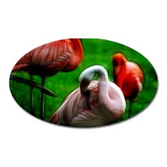 3pinkflamingos Magnet (oval) by bloomingvinedesign