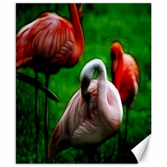 3pinkflamingos Canvas 8  X 10  (unframed) by bloomingvinedesign