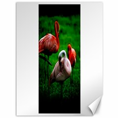 3pinkflamingos Canvas 36  X 48  (unframed) by bloomingvinedesign