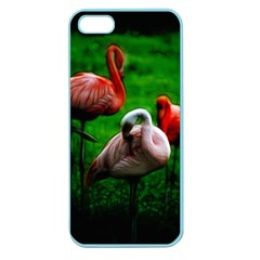 3pinkflamingos Apple Seamless Iphone 5 Case (color) by bloomingvinedesign