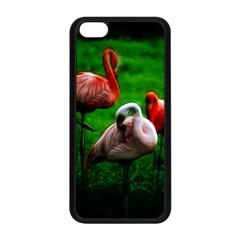 3pinkflamingos Apple Iphone 5c Seamless Case (black)