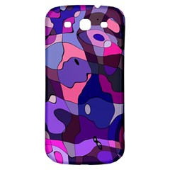Blue Purple Chaos Samsung Galaxy S3 S Iii Classic Hardshell Back Case by LalyLauraFLM