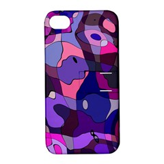 Blue Purple Chaos Apple Iphone 4/4s Hardshell Case With Stand by LalyLauraFLM