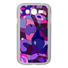 Blue Purple Chaos Samsung Galaxy Grand Duos I9082 Case (white) by LalyLauraFLM