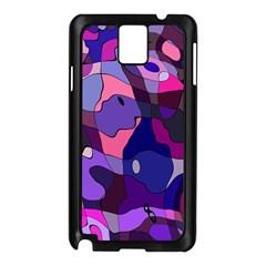 Blue Purple Chaos Samsung Galaxy Note 3 N9005 Case (black) by LalyLauraFLM