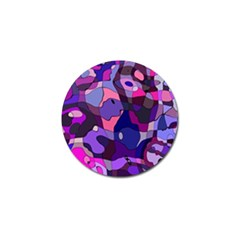 Blue Purple Chaos Golf Ball Marker (4 Pack) by LalyLauraFLM
