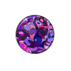 Blue Purple Chaos Hat Clip Ball Marker (10 Pack) by LalyLauraFLM