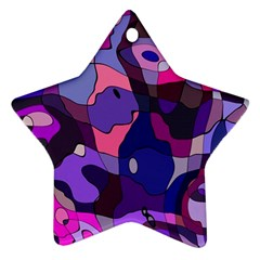 Blue Purple Chaos Star Ornament (two Sides) by LalyLauraFLM