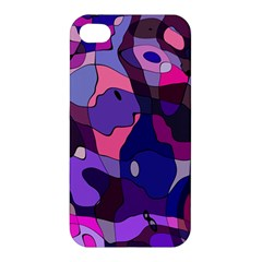 Blue Purple Chaos Apple Iphone 4/4s Hardshell Case by LalyLauraFLM