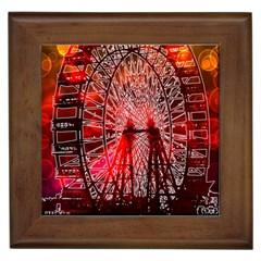 Vintage 1893 Chicago Worlds Fair Ferris Wheel Framed Ceramic Tile