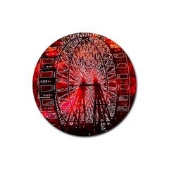 Vintage 1893 Chicago Worlds Fair Ferris Wheel Drink Coasters 4 Pack (Round) by bloomingvinedesign
