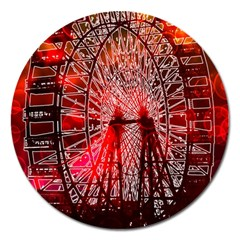 Vintage 1893 Chicago Worlds Fair Ferris Wheel Magnet 5  (round) by bloomingvinedesign