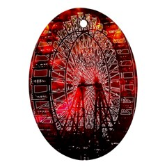 Vintage 1893 Chicago Worlds Fair Ferris Wheel Oval Ornament (two Sides)