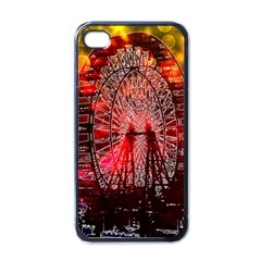 Vintage 1893 Chicago Worlds Fair Ferris Wheel Apple Iphone 4 Case (black) by bloomingvinedesign