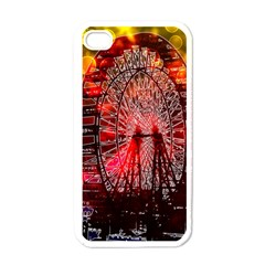 Vintage 1893 Chicago Worlds Fair Ferris Wheel Apple Iphone 4 Case (white) by bloomingvinedesign