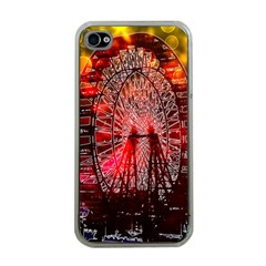 Vintage 1893 Chicago Worlds Fair Ferris Wheel Apple Iphone 4 Case (clear) by bloomingvinedesign