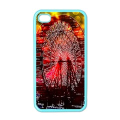 Vintage 1893 Chicago Worlds Fair Ferris Wheel Apple Iphone 4 Case (color) by bloomingvinedesign