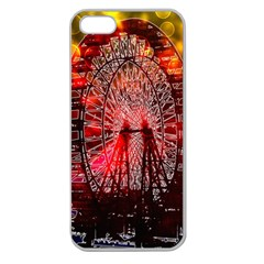 Vintage 1893 Chicago Worlds Fair Ferris Wheel Apple Seamless Iphone 5 Case (clear) by bloomingvinedesign