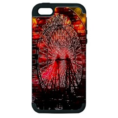 Vintage 1893 Chicago Worlds Fair Ferris Wheel Apple Iphone 5 Hardshell Case (pc+silicone) by bloomingvinedesign