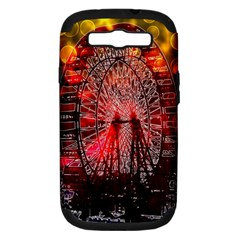 Vintage 1893 Chicago Worlds Fair Ferris Wheel Samsung Galaxy S Iii Hardshell Case (pc+silicone) by bloomingvinedesign