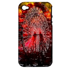 Vintage 1893 Chicago Worlds Fair Ferris Wheel Apple Iphone 4/4s Hardshell Case (pc+silicone) by bloomingvinedesign