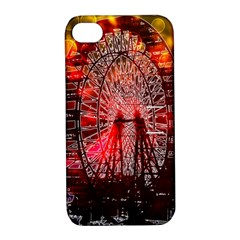 Vintage 1893 Chicago Worlds Fair Ferris Wheel Apple Iphone 4/4s Hardshell Case With Stand by bloomingvinedesign