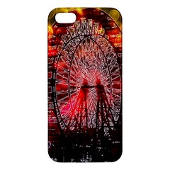 Vintage 1893 Chicago Worlds Fair Ferris Wheel Apple Iphone 5 Premium Hardshell Case by bloomingvinedesign