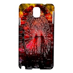 Vintage 1893 Chicago Worlds Fair Ferris Wheel Samsung Galaxy Note 3 N9005 Hardshell Case by bloomingvinedesign