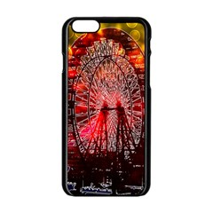 Vintage 1893 Chicago Worlds Fair Ferris Wheel Apple Iphone 6 Black Enamel Case